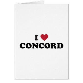 I Love Concord California Card
