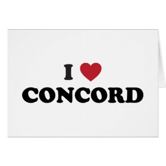 I Love Concord California Greeting Card