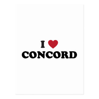 I Love Concord California Postcard