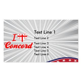 I Love Concord, Georgia Business Card Template