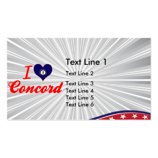 I Love Concord, Kentucky Business Card