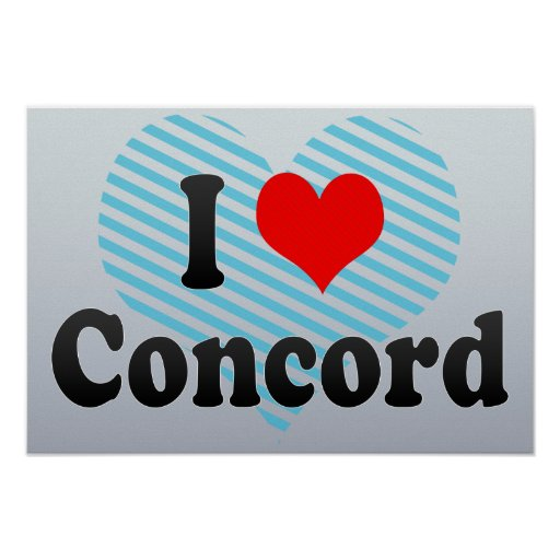 I Love Concord, United States Poster