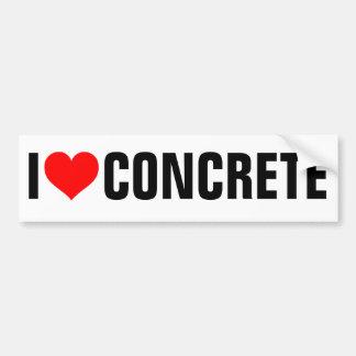 I Love Concrete Bumper Stickers