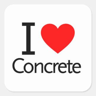 I Love Concrete Square Sticker