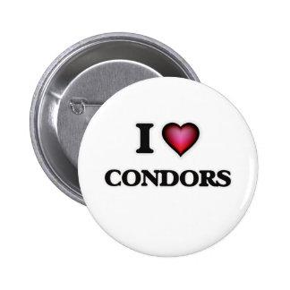 I Love Condors Button