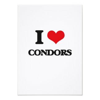 I love Condors 5x7 Paper Invitation Card