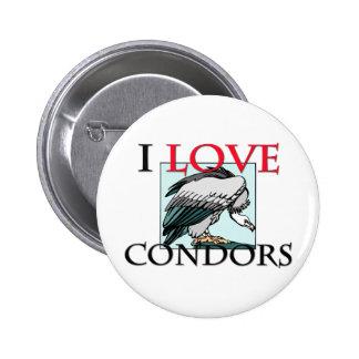 I Love Condors Pinback Button