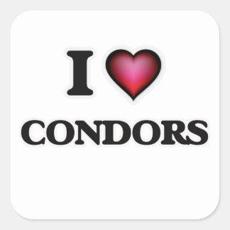 I Love Condors Square Sticker