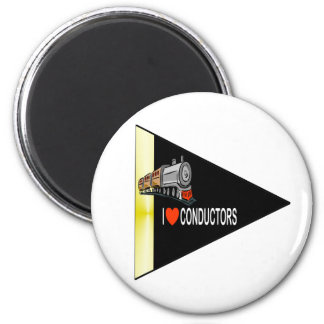 I Love Conductors 2 Inch Round Magnet