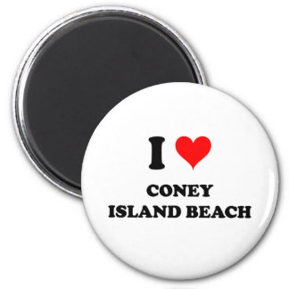 I Love Coney Island Beach Magnet