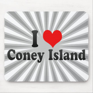 I Love Coney Island, United States Mouse Pads