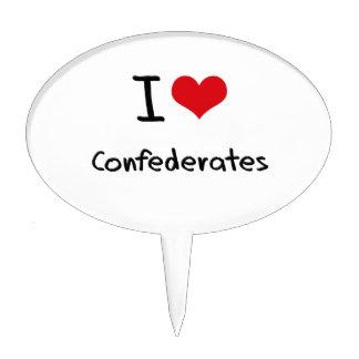 I love Confederates Cake Picks
