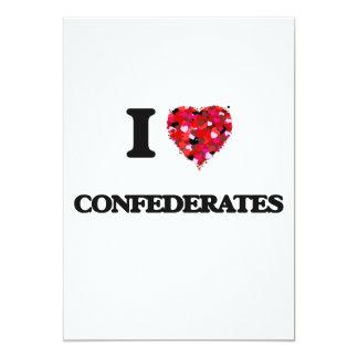 I love Confederates 5x7 Paper Invitation Card