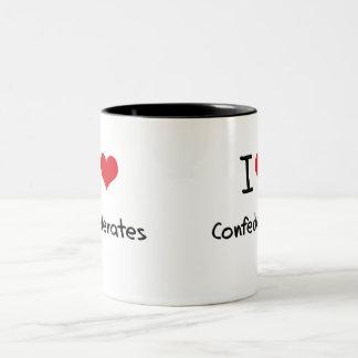I love Confederates Two-Tone Coffee Mug