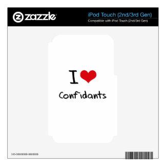 I love Confidants iPod Touch 3G Skins