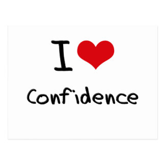 I love Confidence Postcards