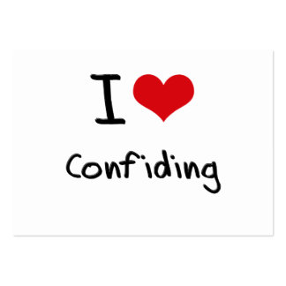 I love Confiding Large Business Cards (Pack Of 100)