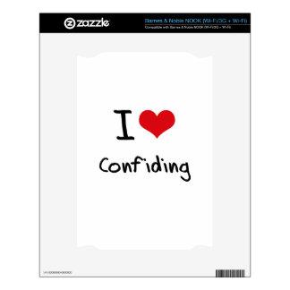 I love Confiding NOOK Decal