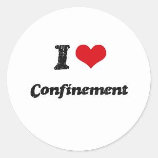 I love Confinement Sticker
