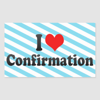 I love Confirmation Sticker