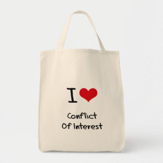 I love Conflict Of Interest Tote Bag