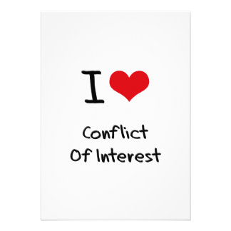 I love Conflict Of Interest Card