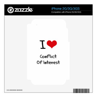 I love Conflict Of Interest iPhone 3GS Decal