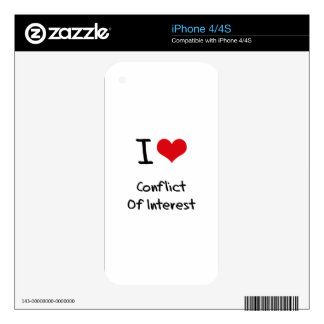 I love Conflict Of Interest Decals For iPhone 4S
