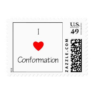 I Love Conformation Postage