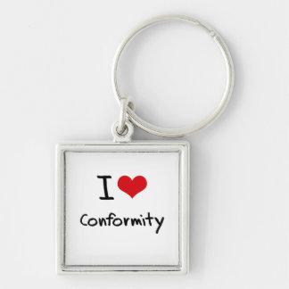 I love Conformity Key Chains
