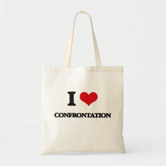 I love Confrontation Tote Bag