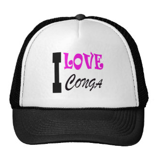 I Love Conga Trucker Hat