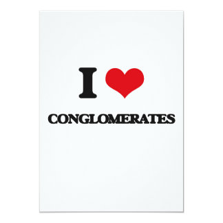 "I love Conglomerates 5"" X 7"" Invitation Card"