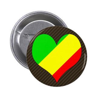 I Love Congo Brazzaville Pinback Button