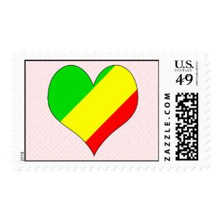 I Love Congo Brazzaville Postage Stamps