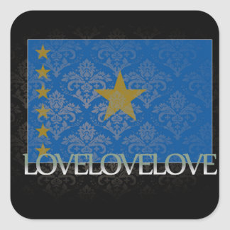 I love Congo Cool Square Sticker