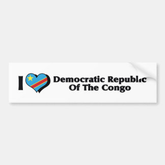 I Love Congo Democratic Republic Flag Bumper Sticker