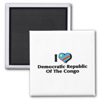 I Love Congo Democratic Republic Flag Magnet