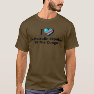 I Love Congo Democratic Republic Flag T-Shirt