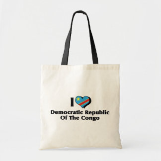 I Love Congo Democratic Republic Flag Tote Bag