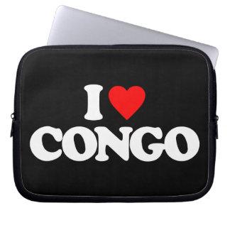 I LOVE CONGO COMPUTER SLEEVES