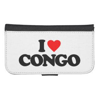 I LOVE CONGO GALAXY S4 WALLET CASE