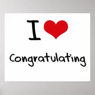 I love Congratulating Print