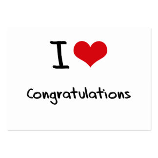 I love Congratulations Business Card Template