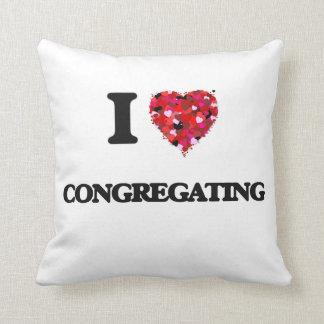 I love Congregating Throw Pillows