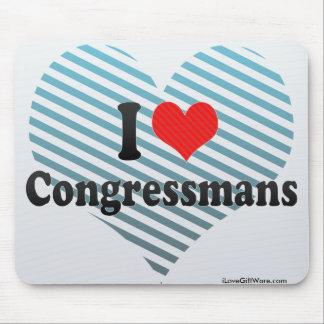 I Love Congressmans Mouse Pads