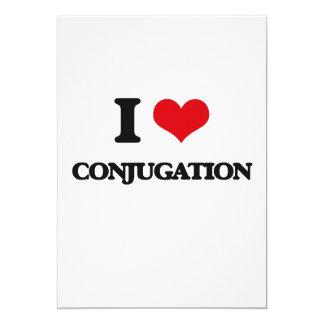 I love Conjugation 5x7 Paper Invitation Card