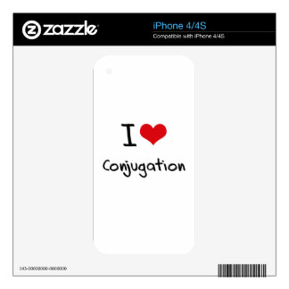 I love Conjugation Decal For iPhone 4