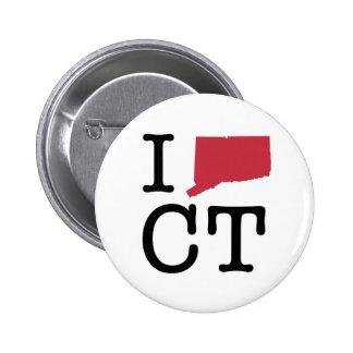 I Love Connecticut 2 Inch Round Button