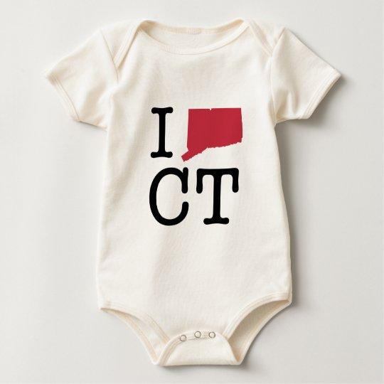 I Love Connecticut Baby Bodysuit